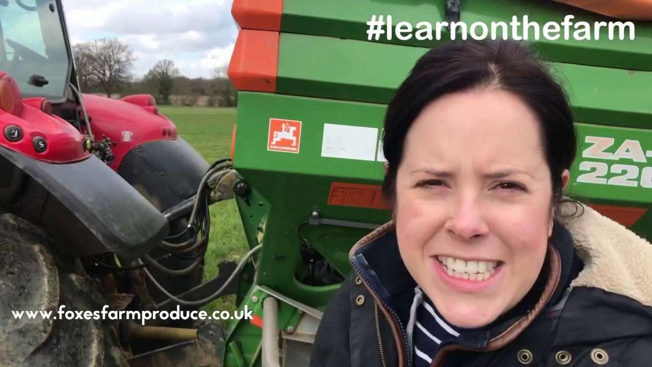 farmer Emily in field