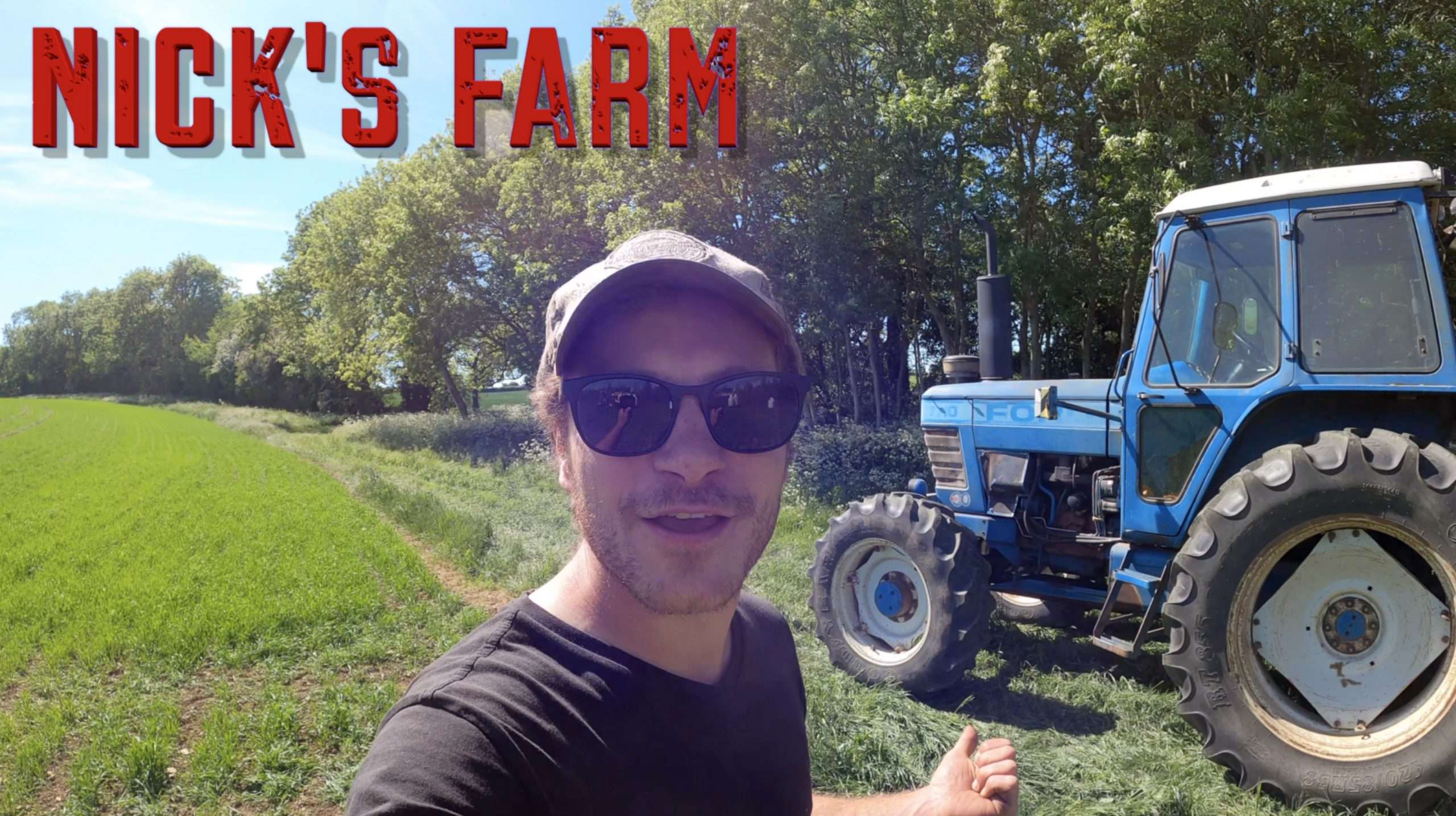 Farmer Nick with his old tractor