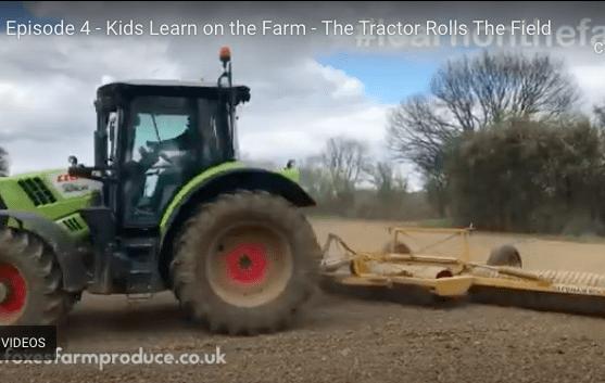 tractor rolling field