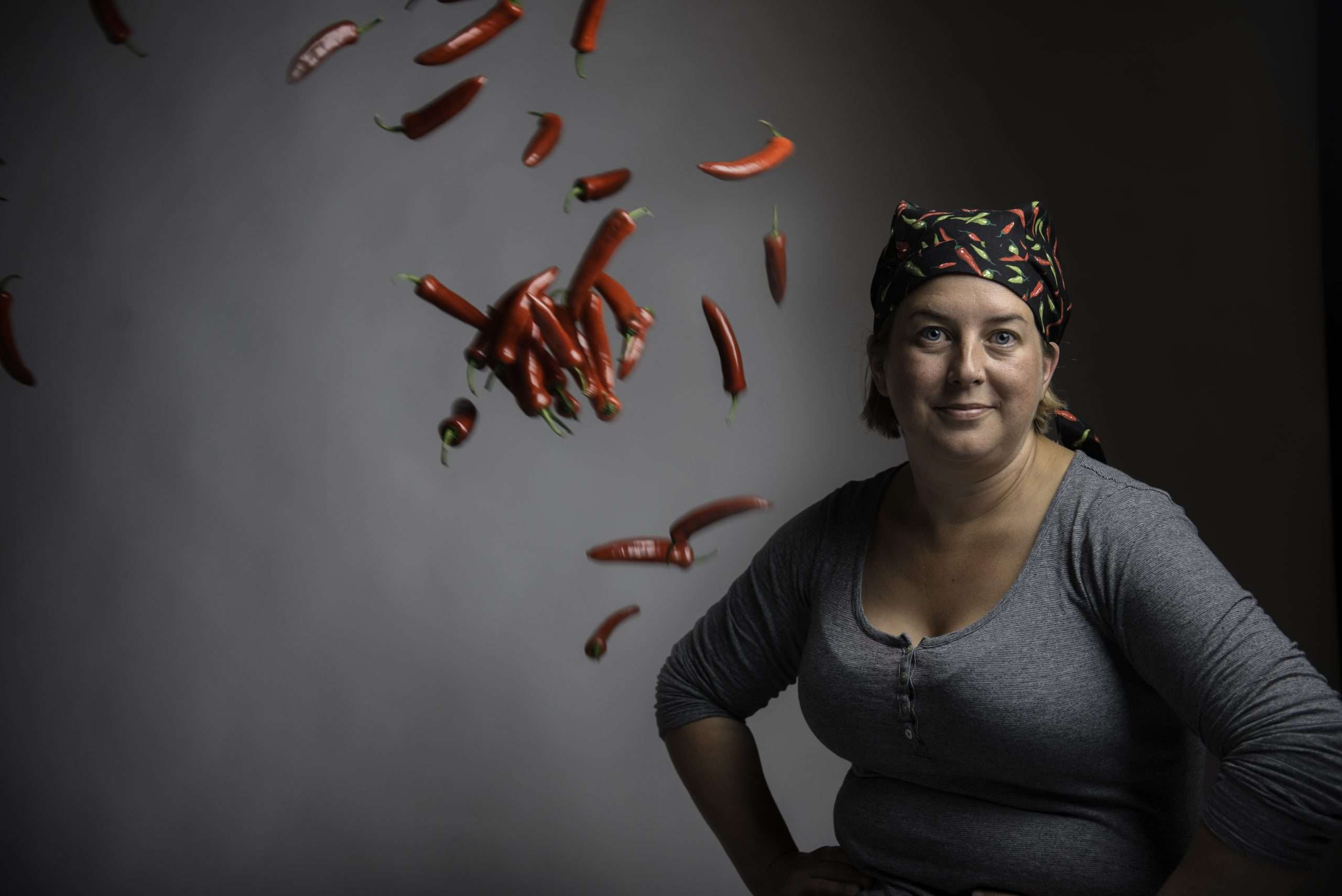 Sheena Horner with chillis