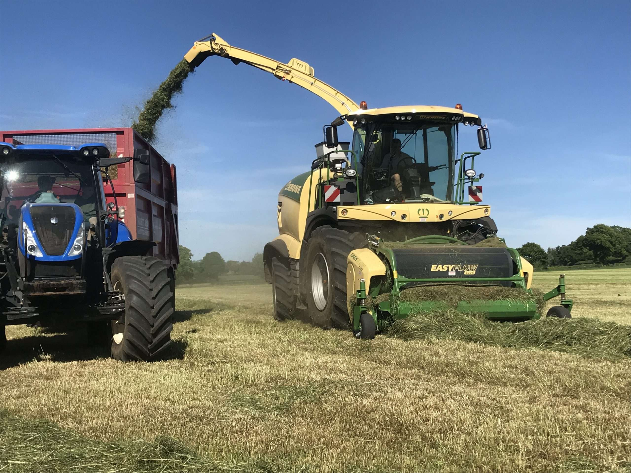 machinery in field