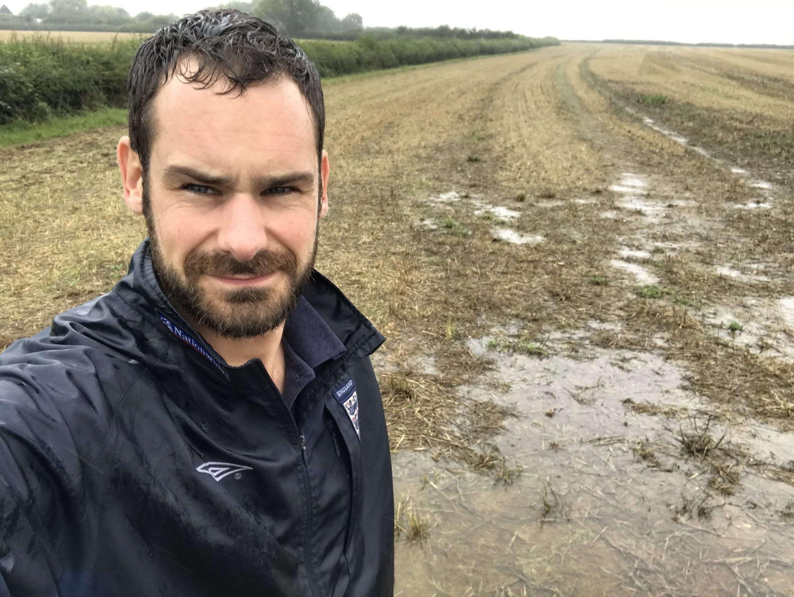 Rich Heady in wet field