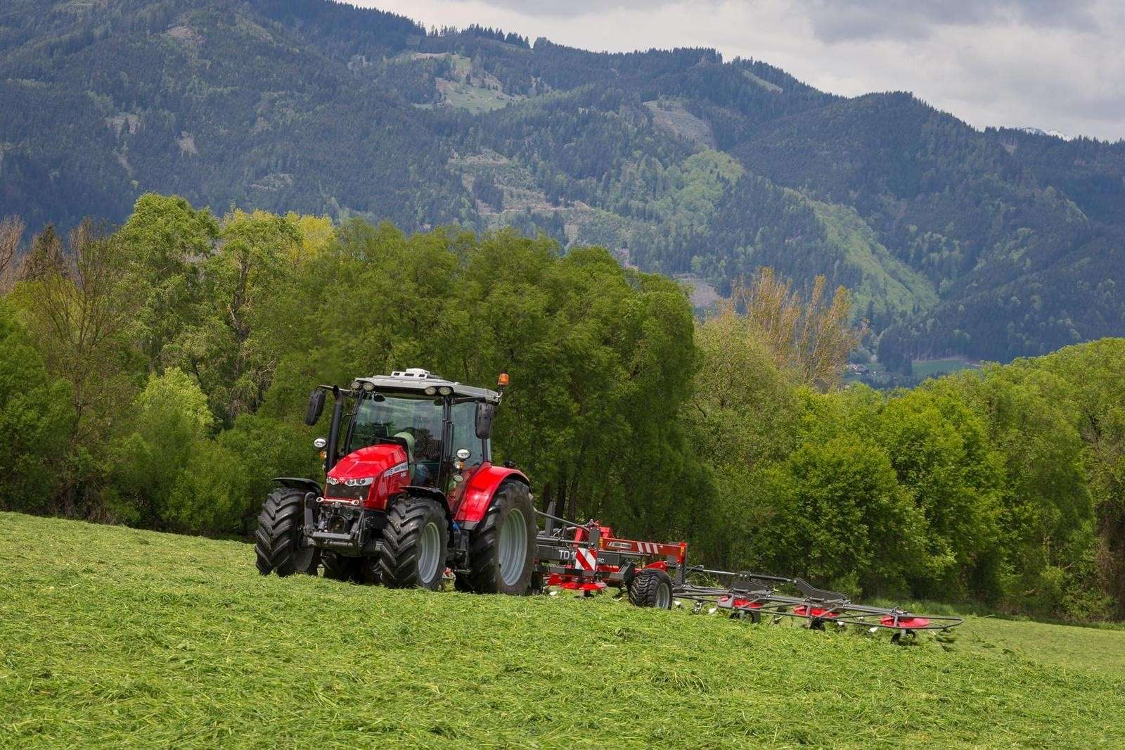tractor making silage