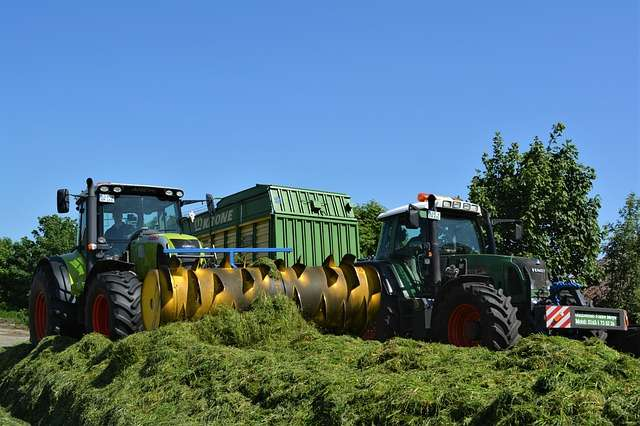 tractor with silage
