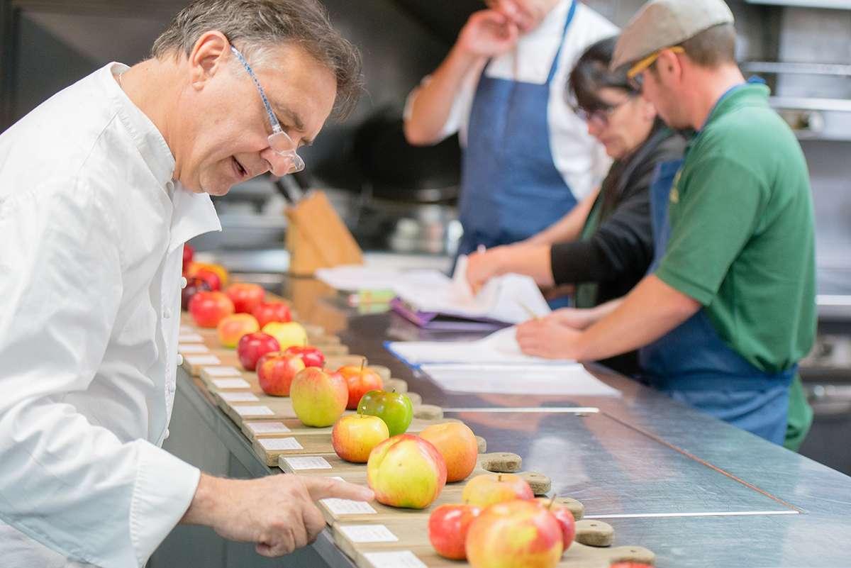 Raymond Blanc trying apples